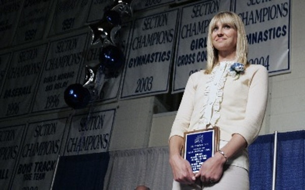 Sarah Northway Maria was inducted into the Brainerd High School Hall of Fame in 2008. She played for the undefeated 1995 Connecticut women's basketbal