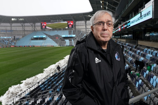 """Buzz Lagos, one of soccer's oldest advocates in Minnesota, said of Allianz Field, """"The feeling when you get inside, it's almost like you're in"""