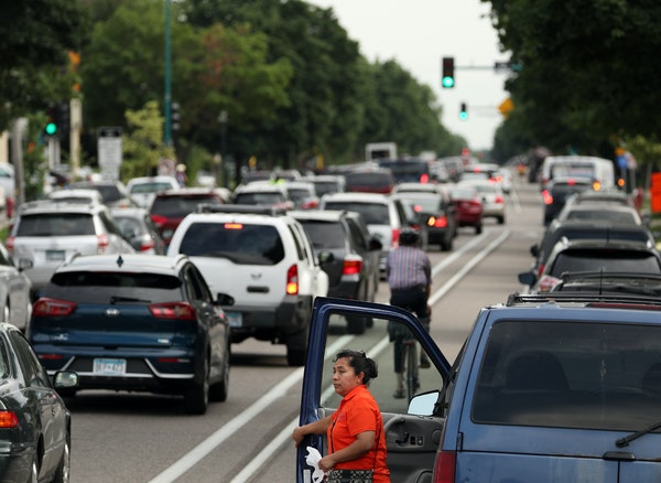 Portland Avenue in Minneapolis. At least 40% of Hennepin County's road infrastructure is 50 years or older, said Chris Sagsveen, acting assistant co