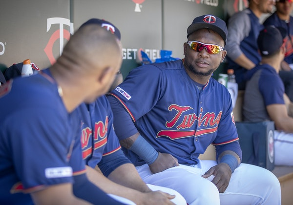 Miguel Sano was in the Twins dugout during Wednesday's game but did not play. The third baseman missed the season's first 42 games because of a he