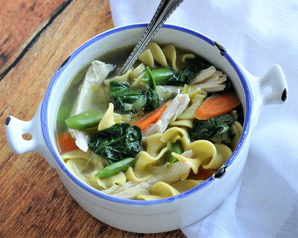 Spring Chicken Noodle Soup by Meredith Deeds