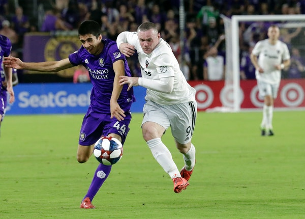 The presence of Wayne Rooney, right, benefits the MLS, it's said. Try convincing those checking him.