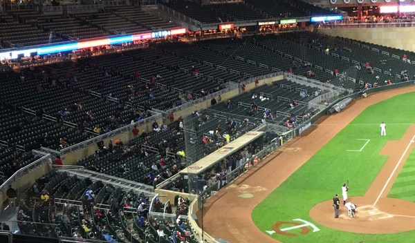 Target Field on Tuesday night
