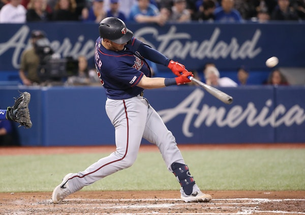 Mitch Garver hit a two-run home run in the sixth inning against the Blue Jays at Rogers Centre