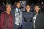Laverne McCartney Knighton, Khary Campbell, Tola Oyewole and Mona Wright attended the annual Dr. Martin Luther King Jr. breakfast on Jan. 15, 2018, in