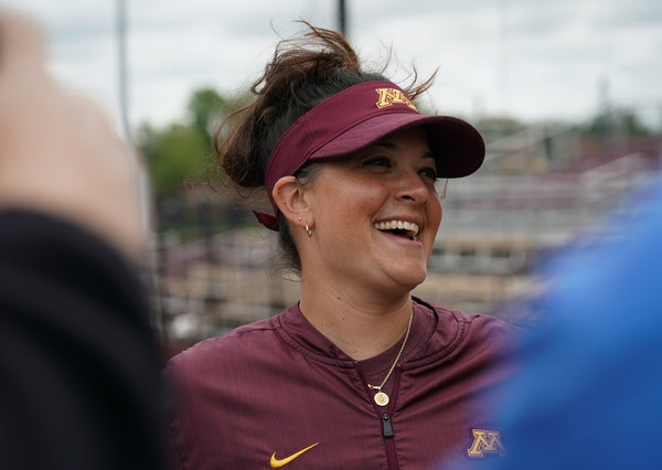 Under coach Jamie Trachsel, the Gophers softball team has a better defense but is still hitting homers and pitching well.