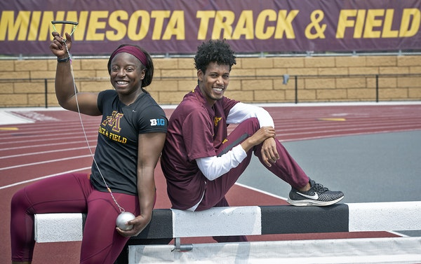 Dressed for track success, Temi Ogunrinde (hammer throw) and Obsa Ali (steeplechase) lead the Gophers into this week's NCAA Outdoors Championships.
