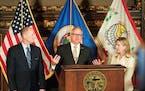 Governor Tim Walz, Senate Majority Leader Paul Gazelka and House Speaker Melissa Hortman held a press conference Sunday night to announce a budget agr