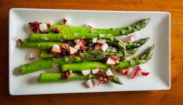 Recipe: Asparagus and Radish Salad in Bacon Vinaigrette