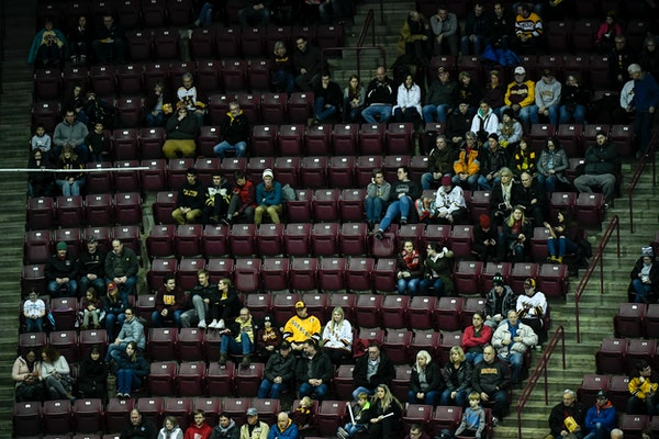 There were plenty of empty seats at Mariucci for a game between the Gophers and Michigan Wolverines on Feb. 1.