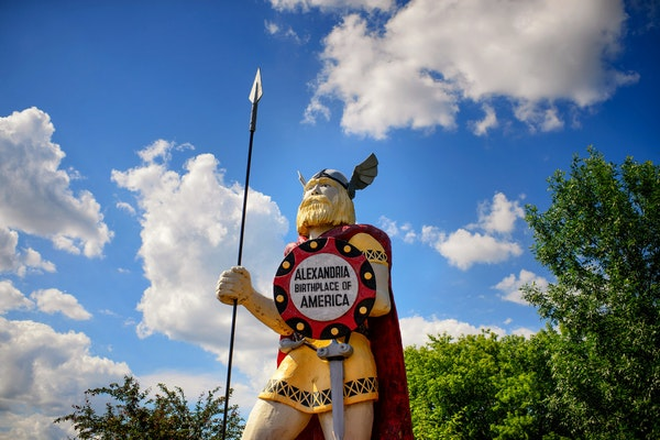 Big Ole, the 28-foot-tall Viking warrior resides in Alexandria and is believed to be America's biggest Viking.