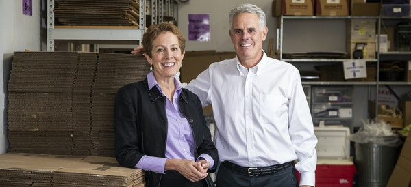 Gentle Transitions co-owners Diane Bjorkman and Bill Lehman specialize in senior moves, but have no plans to downsize.
