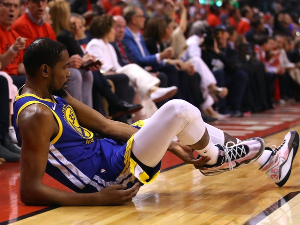 The Warriors' Kevin Durant tore his Achilles during Game 5 of the NBA Finals, throwing his future residency in doubt next season.
