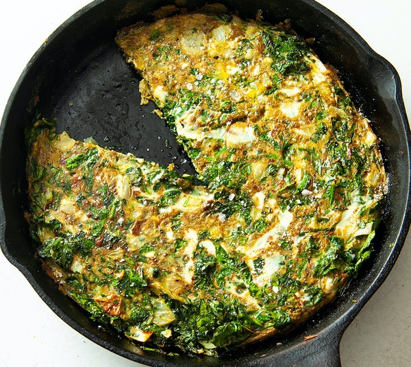 Frittata with greens and Persian spices