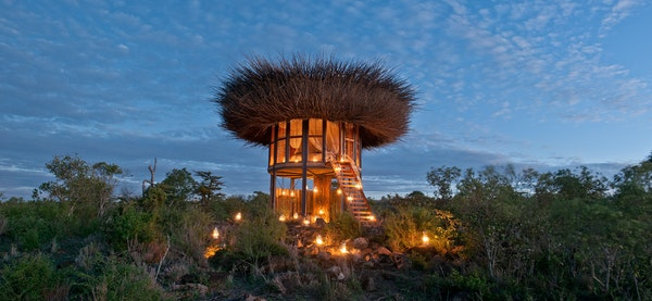 Segera Retreat's Nay Palad in Kenya is built close to a river so its guests have up-close views of wild animals slaking their thirst.
