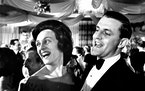 "Sen. Walter Mondale and Joan Mondale, newcomers among Minnesota ""regulars"" at an inaugural ball in Washington."