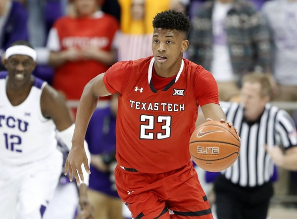 Jarrett Culver (23) was the sixth overall pick in the NBA draft after the Wolves made a deal with Phoenix that will be made official next month.