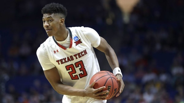 Texas Tech's Jarrett Culver looks to poss during the second half of a first round men's college basketball game against Northern Kentucky in the NCAA