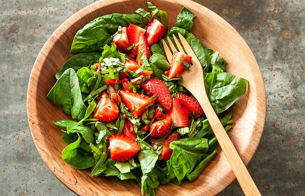 Recipe: Simplest Strawberry Spinach Salad
