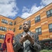 Housing and Urban Development Secretary Ben Carson spoke after a small tour of the EcoVillage Apartments, a community of affordable housing, on Tuesda