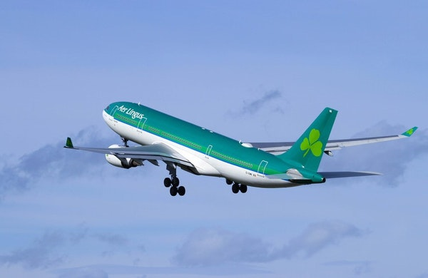 Aer Lingus will initially use a 757 to fly between the Twin Cities and Dublin but will likely turn to the A330, shown here, next year.