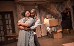 """Dana Lee Thompson and Doc Woods star as Ruth and Walter Lee Younger in Lyric Arts' production of """"A Raisin in the Sun."""""""