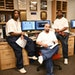 From left, Lennell Martin, Jeffery Young and Ronald Greer, co-editors of the Prison Mirror and inmates at the Stillwater Correctional Facility, sat fo