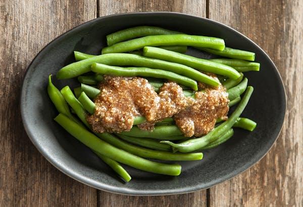Green Beans With Hazelnut Butter