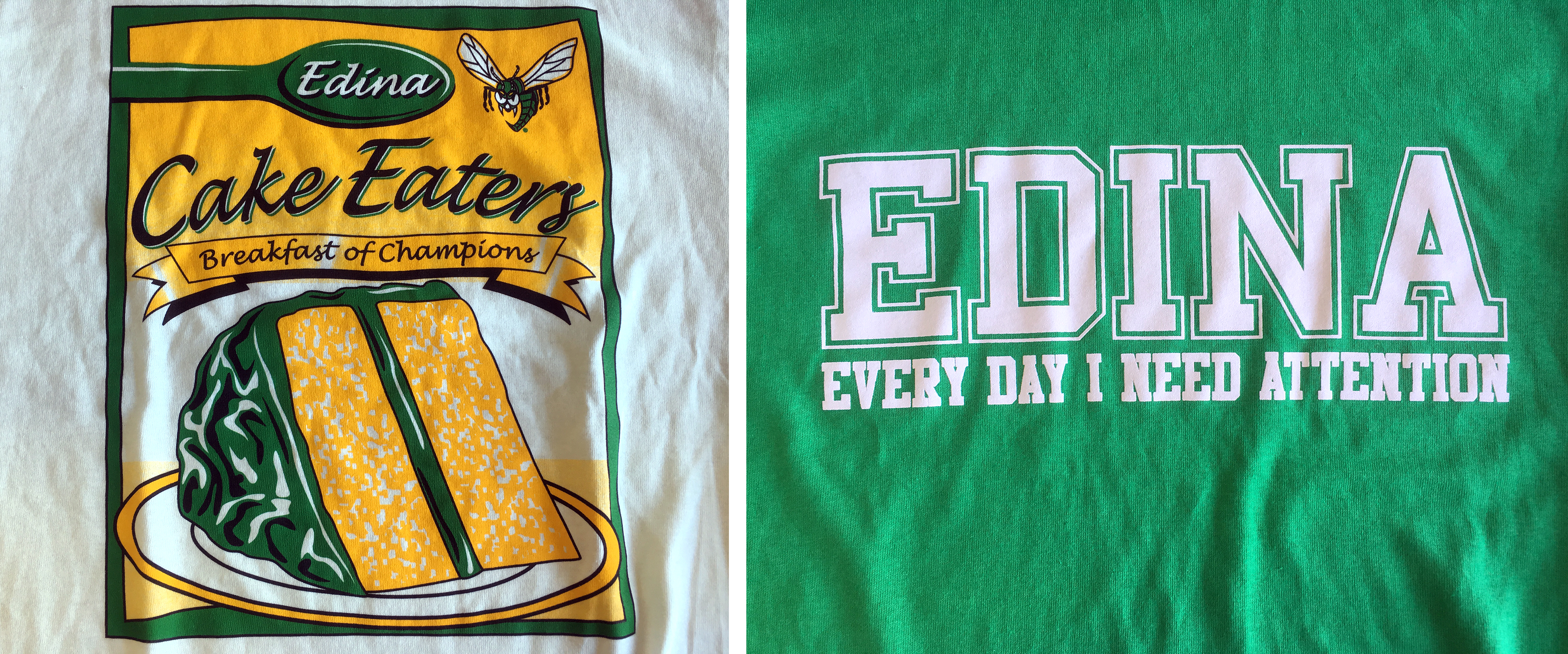 T-shirts mocking Edina hatred are hot sellers at General Sports, the local sporting-goods institution adjoining Braemar Arena.
