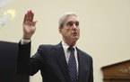 Former special counsel Robert Mueller, is sworn in before he testifies before the House Judiciary Committee hearing on his report on Russian election