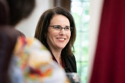 Joan Gabel, the new University of Minnesota president, was on a retreat with the Board of Regents in Faribault.