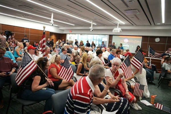 More than 100 people attended the St. Louis Park City Council session Monday night.