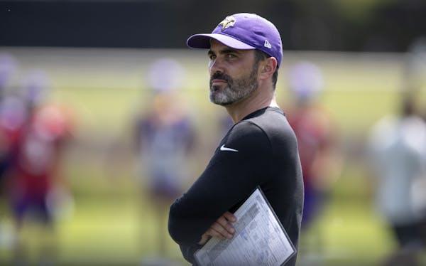 Vikings offensive coordinator Kevin Stefanski last month.