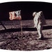 Astronaut Buzz Aldrin posed beside the U.S. flag on the moon during the Apollo 11 mission on July 20, 1969. The lunar landing, which once topped polls