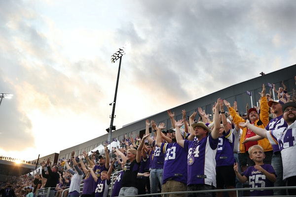 Vikings fans did the Skol chant during last summer's training camp in Eagan.