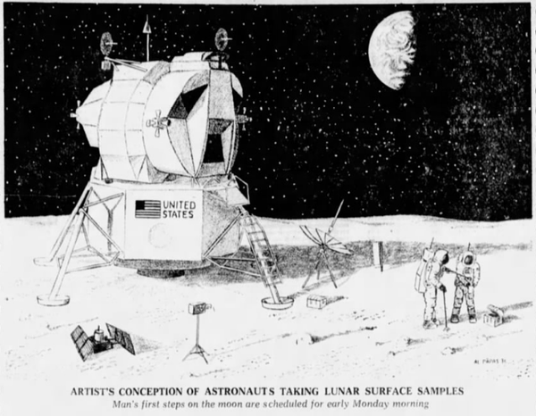 This illustration appeared in the Minneapolis Star on July 18, 1969.