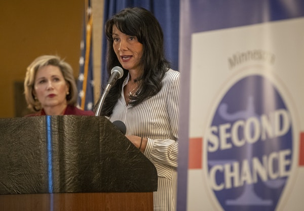 DOC Deputy Commissioner Sarah Walker, pictured at a rally in February, has resigned.