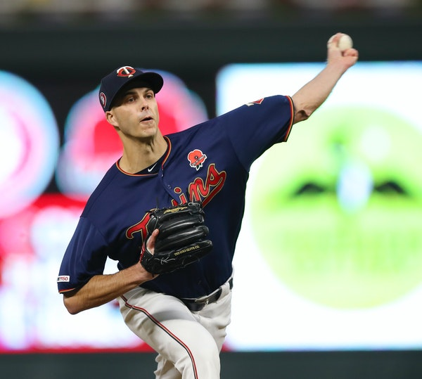 Twins reliever Taylor Rogers pitched in the eighth inning, giving up a two-run homer to the Brewers' Orlando Arcia on Monday night.