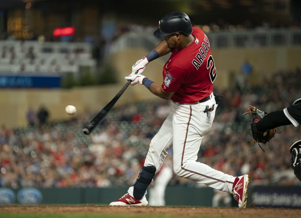 Rookie Luis Arraez has shown uncommon ability to crack line drives to all fields. He's notoriously hard to whiff, too, possessing an MLB-low strikeo