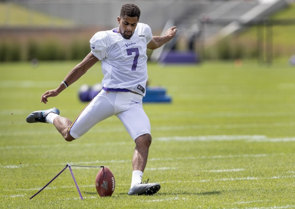 Vikings day at camp: Kaare Vedvik goes 5-for-6 on field goals