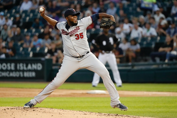 Twins starting pitcher Michael Pineda delivers during the first inning Tuesday in Chicago