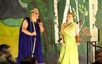 """Bill Pederson (Apollo) and Sarah Jackson (Daphne) in """"La Dafne"""" by Bold North Baroque Opera."""