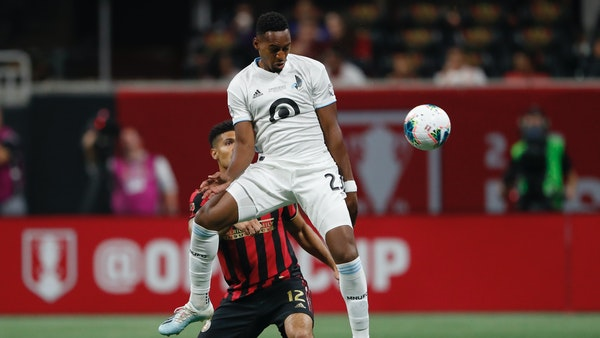 Minnesota United forward Mason Toye (shown in an August match vs. Atlanta) scored two goals as the Loons shut out Los Angeles FC 2-0 Sunday night.