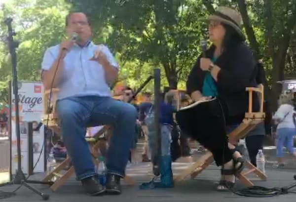 Minnesota Attorney General Keith Ellison, interviewed at the State Fair by Star Tribune editorial writer Patricia Lopez.