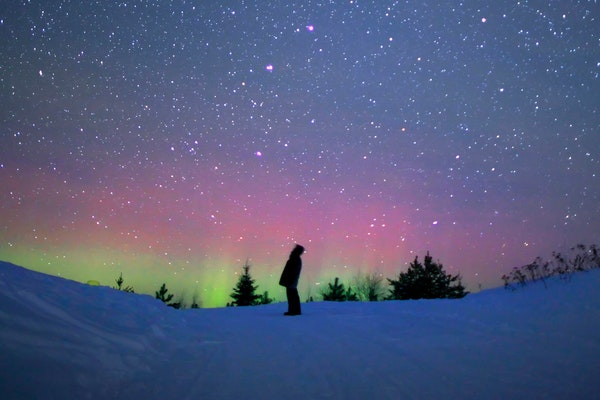 Spring and fall, especially September and March, offer the best chances to see the northern lights here.