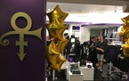 The new Prince store at Minneapolis-St. Paul International Airport sells music, books, apparel and other souvenirs of the late superstar musician.
