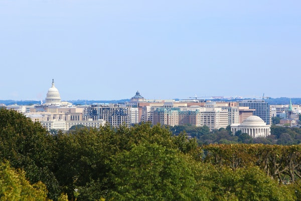 The Washington, D.C., skyline from Arlington, Va.