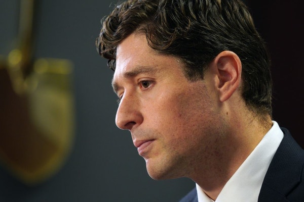 Minneapolis Mayor Jacob Frey proposed adding 14 new police officers during his annual budget address Thursday, far fewer than what the city's police c