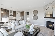 These interiors were designed for a model home in Bellwether, a 55-plus active adult community in Corcoran featuring indoor and outdoor pools, a clubh