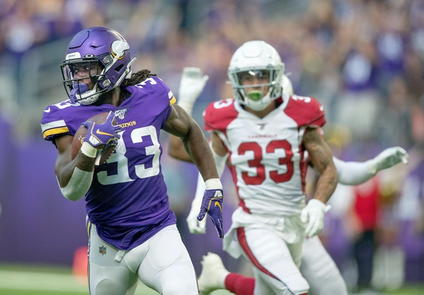 Vikings running back Dalvin Cook broke away from the defense for an 85-yard touchdown against Arizona in Week 3 of the preseason.